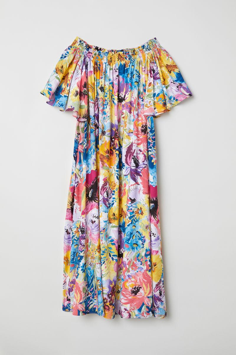 Off-Shoulder-Kleid | Multifarbig/Geblümt | DAMEN | H&M DE