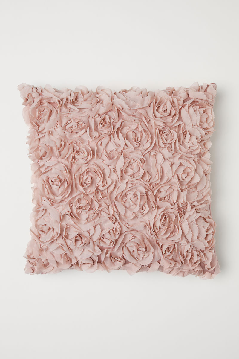 Chiffon Flower Cushion Cover Light Pink Hm Home Hm Au