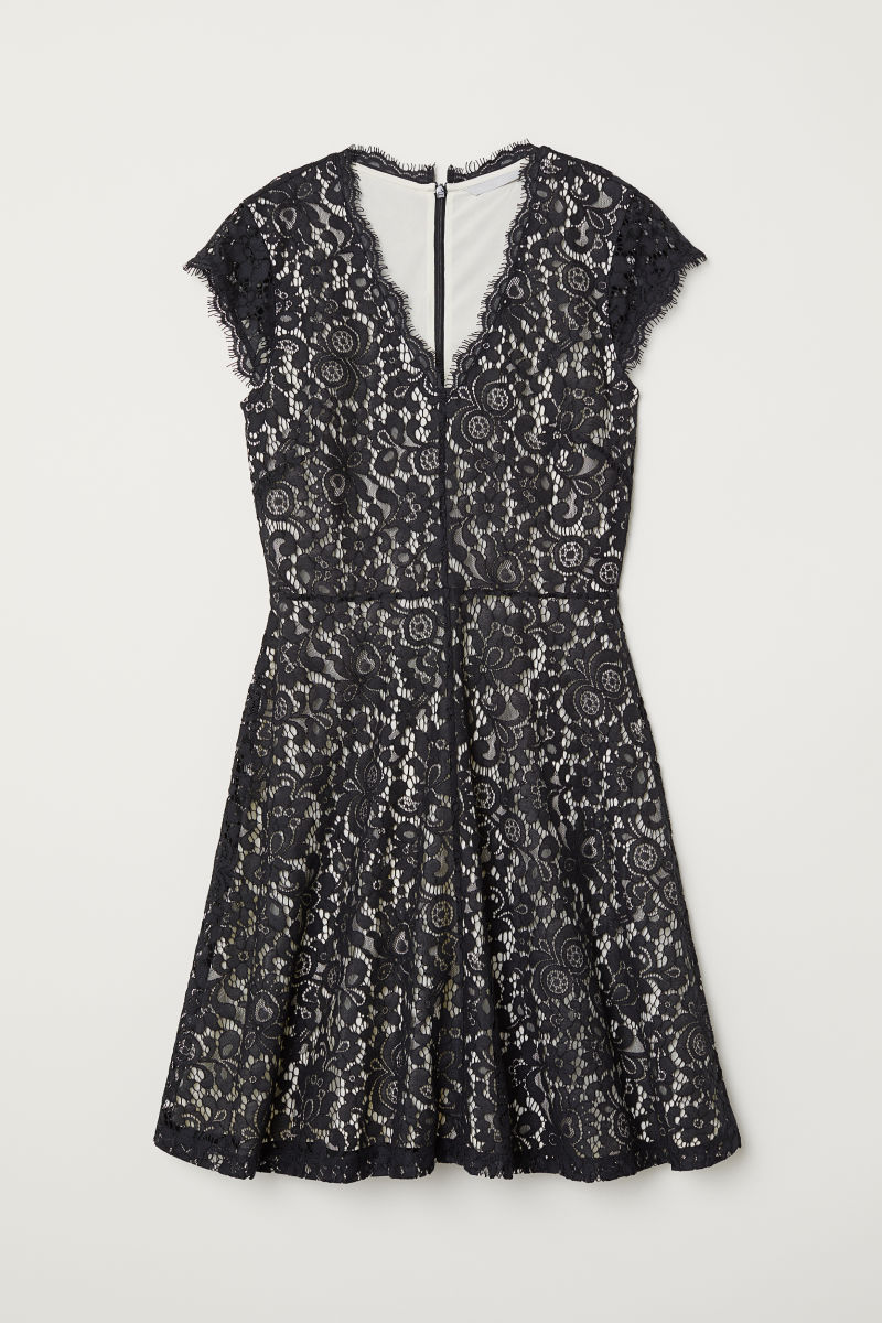 Lace dress | Black | LADIES | H&M BH