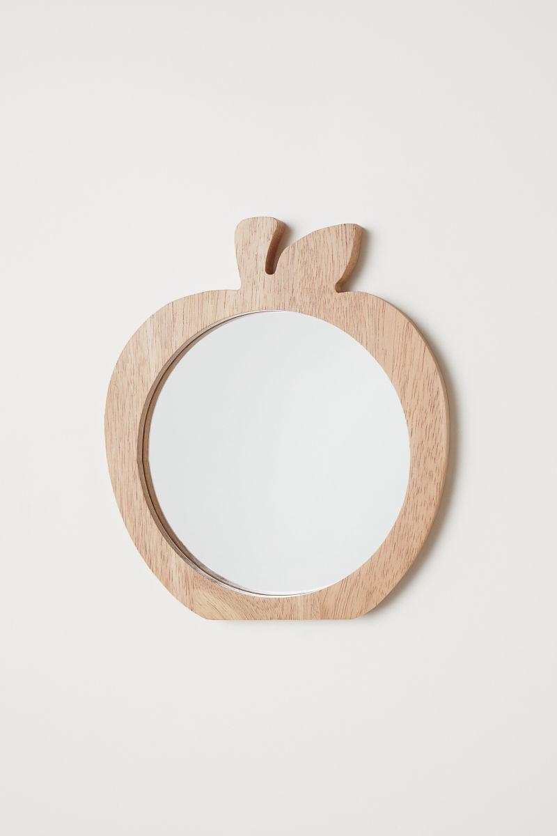 Runder Spiegel mit Holzrahmen   Holz/Apfel   H&M HOME   H&M DE