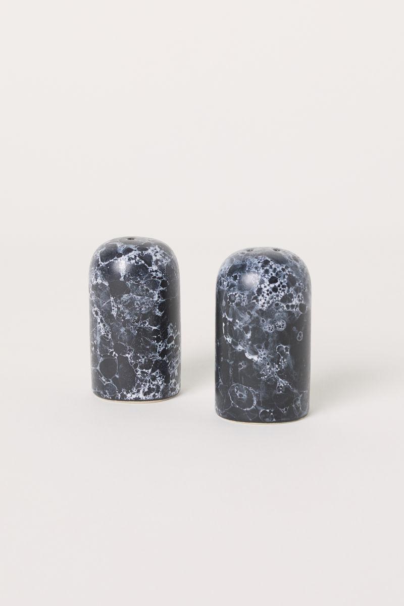 Salz- und Pfefferstreuer   Schwarz/Marmoriert   H&M HOME   H&M DE