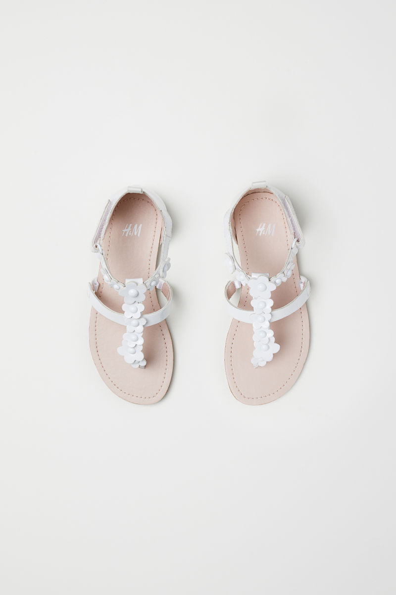 Sandals whiteflowers kids hm za details mightylinksfo