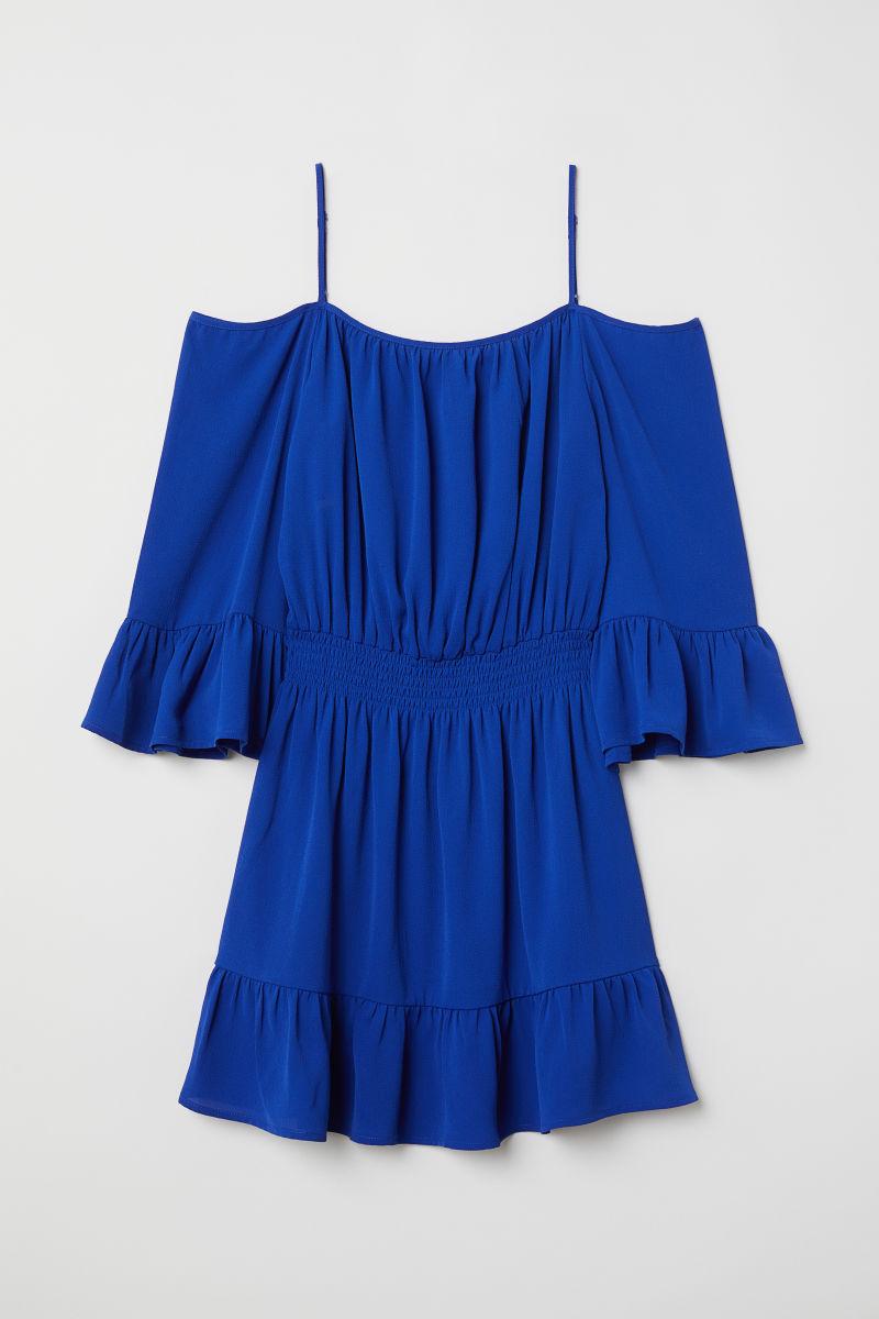 Cold-Shoulder-Kleid | Kornblumenblau | DAMEN | H&M DE