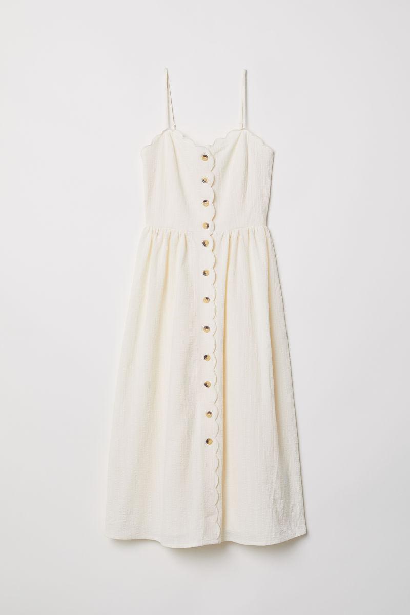 Durchgeknöpftes Kleid | Naturweiß | DAMEN | H&M DE