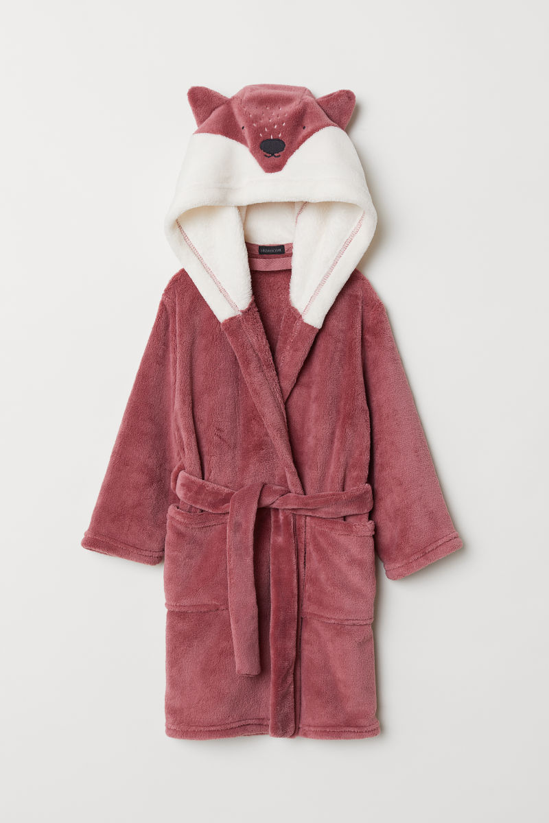 Dressing gown | Dark pink/Fox | H&M HOME | H&M IS
