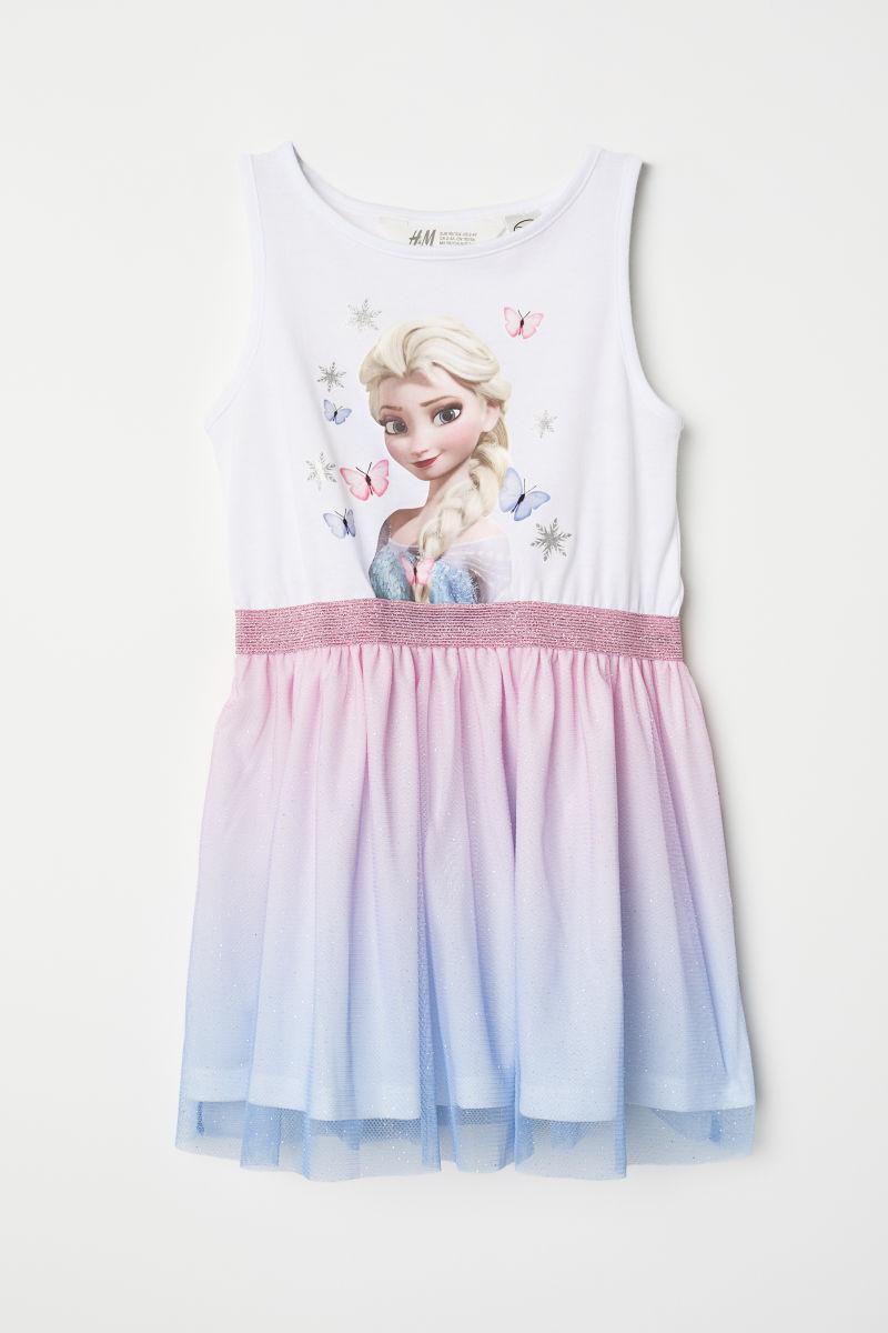 Kleid Mit Tullrock Weiss Eiskonigin Sale H M De