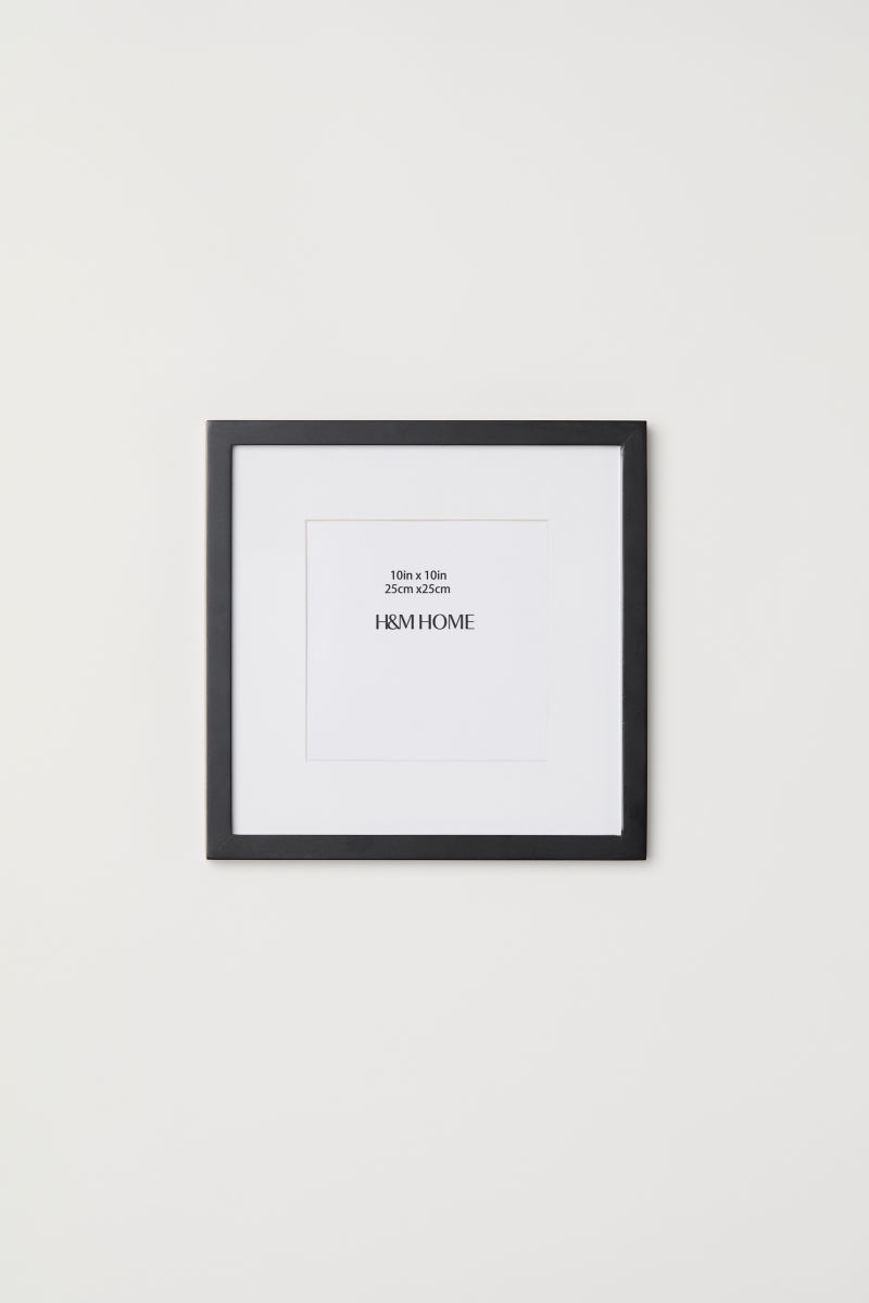 Wooden frame 25x25 cm | Black | H&M HOME | H&M IS