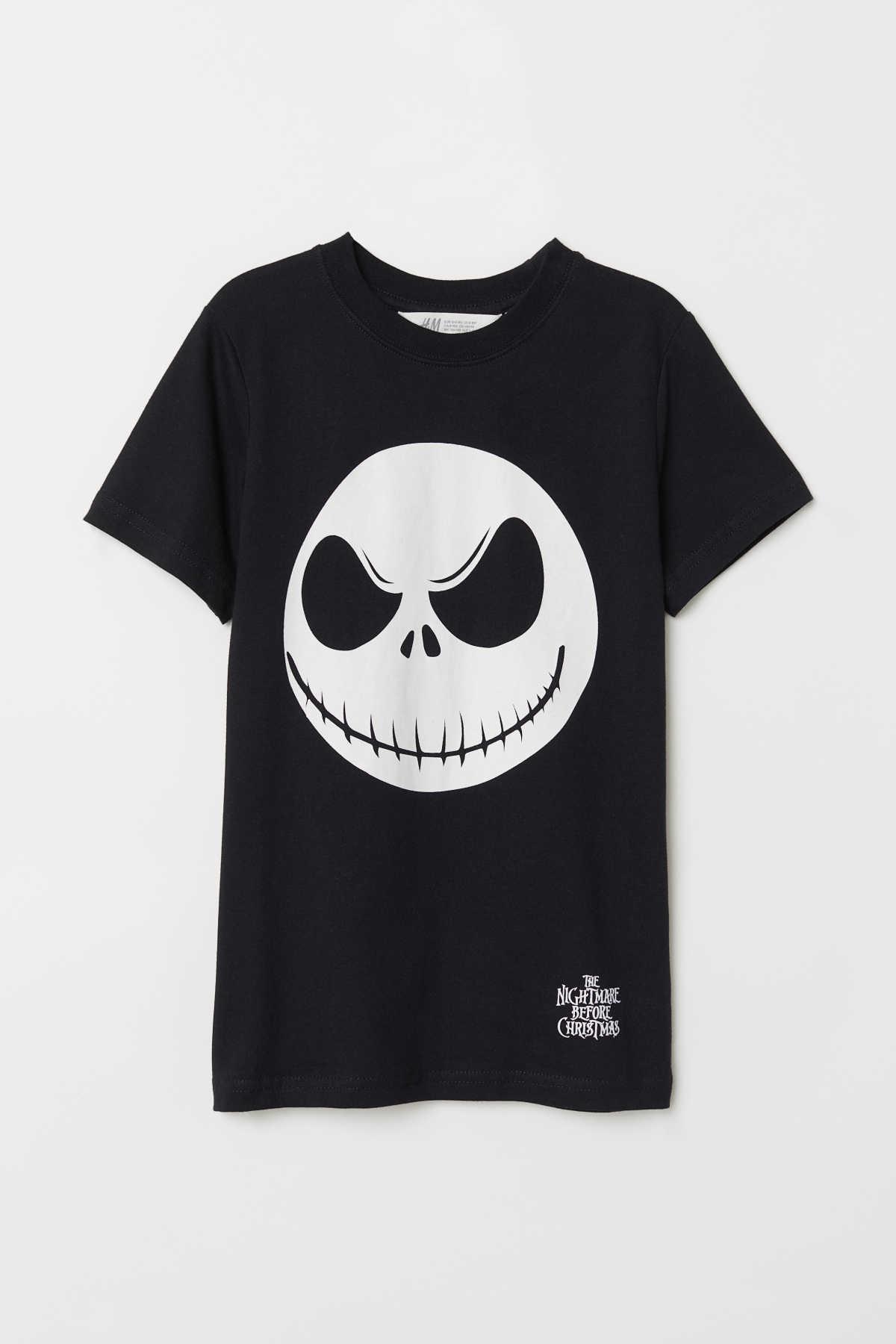 T-shirt with a motif | Black/Jack Skellington | KIDS | H&M IS