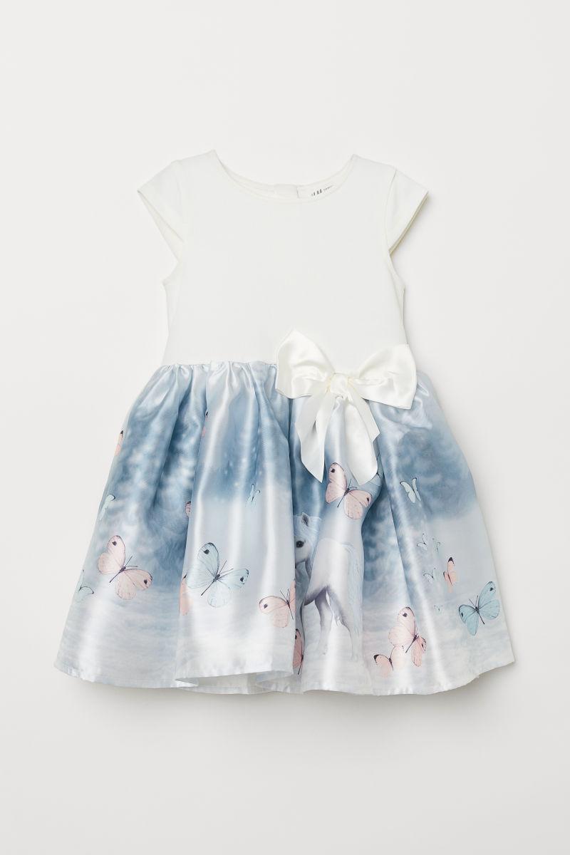 Kleid Mit Ausgestelltem Rock Weiss Pferde Sale H M De
