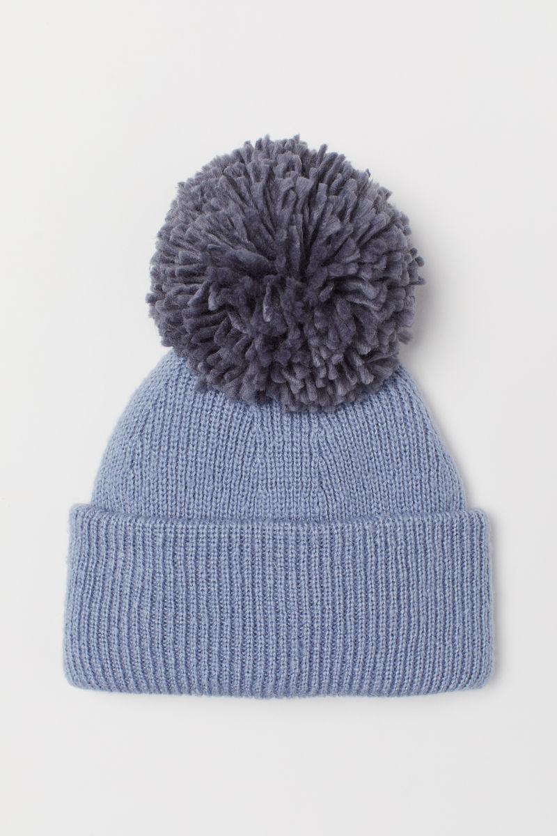 Ribbed Hat Light Blue Dark Ladies Hm Is Hoc Premium Bluedark Full Set Suit